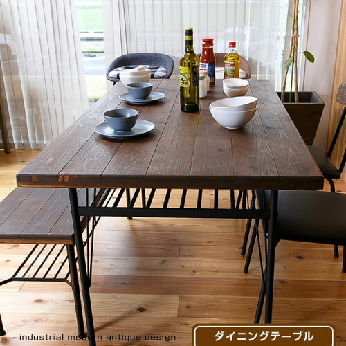 ダイニングテーブル 無垢 机 テーブル 140cm 食卓テーブル リビングテ...