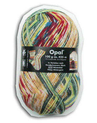 【メール便不可】【人気No.1 】Opal 靴下用毛糸 Hundertwasser 2104