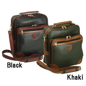 紳士の装いに風格を添える上品なデザインは街歩きや旅行のサブバッグに最適です。合皮ショルダーバッグ縦型30cm#16212