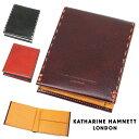 二つ折り財布 メンズ カード6枚収納 KATHARINE HAMNETT キャサリンハムネット ロンドン カラーテーラード2 折財布 折りたたみ 革 レザー メンズ 財布