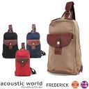ボディバッグ メンズ acoustic world アコースティック・...