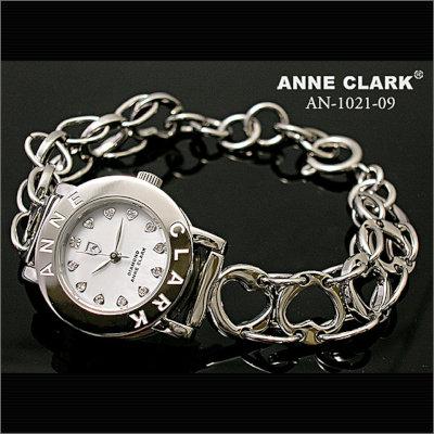 【腕時計】ANNECLARKアンクラークレディースハートチェーン腕時計[AN1021-09]天然シェルピンク文字盤