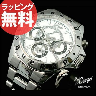 【腕時計】DADangelダッドエンジェルクロノグラフスカルメンズ腕時計メンズウォッチ[DAD702]
