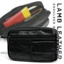 小脇に抱えるセカンドバッグ。 SGR-03 一部ラム革使用 セカンドバッグ メンズ クラッチバッグ 羊革 ブラック 黒 おしゃれ 通販 クリスマス プレゼント