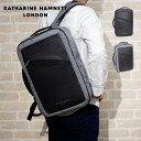 新作 キャサリンハムネットロンドン ビジネスリュック メンズ ブランド KATHARINE HAMNETT リュックサック 通勤 通学 A4 B4 PC収納 バックパック 撥水 防水 490-8050