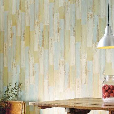 【 壁紙 のり付き 】 壁紙 のりつき クロス マテリアル 木目 ウッド ヴィンテージ 西海岸 カリフォルニア 防かび サンゲツ FE-1265