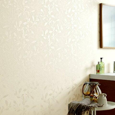 【 壁紙 のり付き 】 壁紙 のりつき クロス フェミニン・エレガンス リーフ 防かび サンゲツ FE-1417