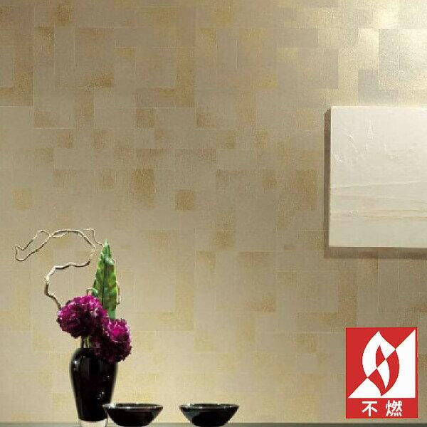 【 壁紙 のり付き 】 壁紙 のりつき クロス 和 和風 金 ゴールド 不燃 防かび サンゲツ RE-7547