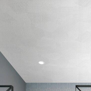 【 壁紙 のり付き 】 壁紙 のりつき クロス 天井 白 塗り目調 左官仕上げ 防かび ルノン RH-4842
