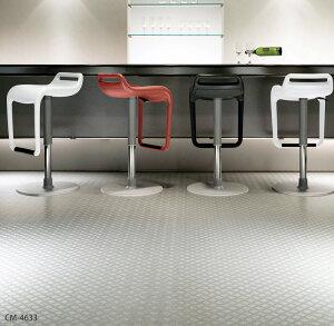クール&ハードな男らしい空間の鉄板柄[店舗用クッションフロア チェッカープレート サンゲツ(1...