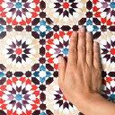 【10%OFFクーポン配布中!5/31まで】貼ってはがせる シール壁紙 リメイクシート 「Hatte me(ハッテミー)」モロッコタイル柄 レッド MORO-02 (65cm×1m) 壁紙屋本舗 3