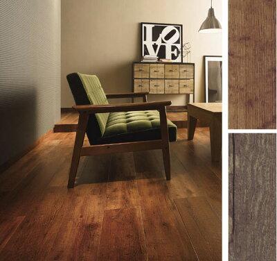 ビンテージ家具と合う、リアルな木目柄。店舗の床 など土足でもOK!丈夫な床材!ホモジニアス ...