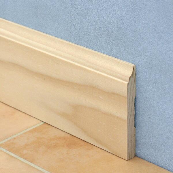 モールディング[ベースボード(巾木) H623ベイツガ 無塗装 10.1mm×82.5mm×長さ約1.8m(1本単位で発売)] 【メーカー直送代引き不可】