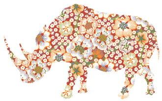 進口墻紙INKE沃爾粘紙Rhino犀牛114[尺寸:W150cm×H90cm]