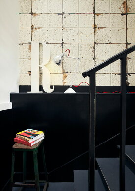 【送料無料】 輸入壁紙 オランダ製BROOKLYN TINS /  ブルックリン・ティンズ・バイ・メルシー(1ロール(48.7cm×10m)単位で販売)フリース(不織布)【国内在庫】【あす楽対応】
