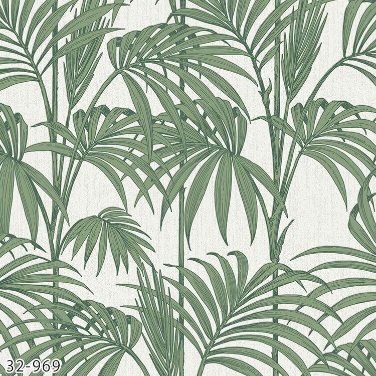 【楽天市場】輸入壁紙 イギリス製 / グラハム・アンド・ブラウン 32-969:Honolulu Palm、32 ...