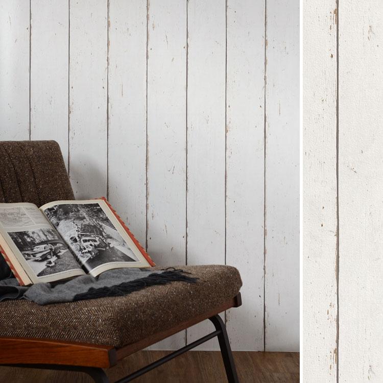 RoomClip商品情報 - 【最大5000円引クーポン配布中!2/16(日)1:59まで】木目柄の壁紙 はってはがせる 輸入 壁紙ドイツ製 ラッシュ b.b.home 1ロール(53cm×10m)単位で販売フリース壁紙(不織布)