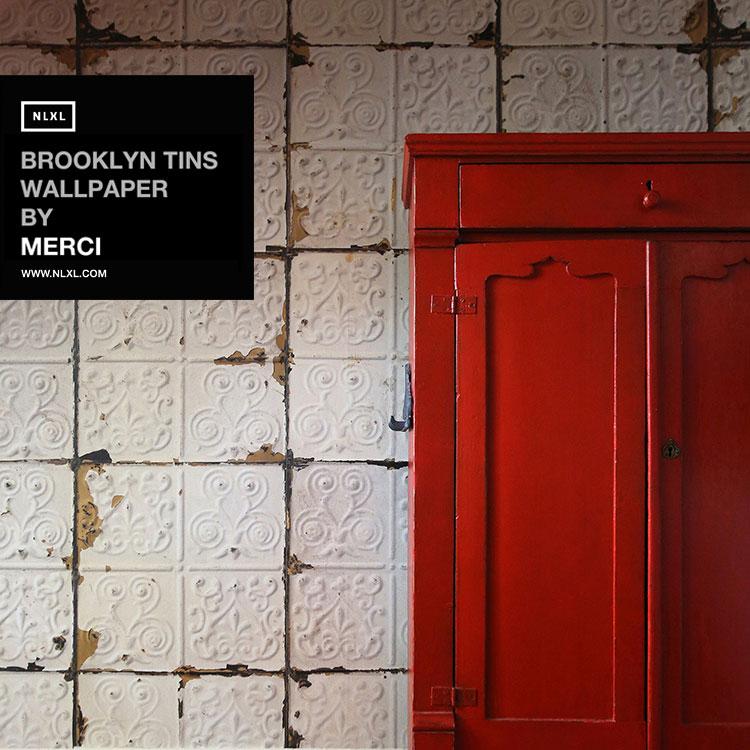 輸入壁紙 オランダ製BROOKLYN TINS /  NLXL / ブルックリン・ティンズ・バイ・メルシー(1ロール(48.7cm×10m)単位で販売)フリース(不織布)【国内在庫】【あす楽対応】