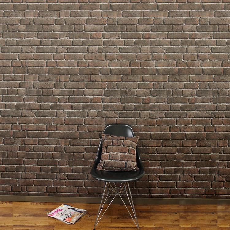 はってはがせる 輸入 壁紙フランス製 コジエル 1ロール(53cm×10m)単位で販売フリース壁紙(不織布) ブリック レンガ調