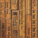 輸入壁紙の切り売り(幅48.7cm×1m単位で切売) NLXL LAB エヌエルエックスエル・ラボ NLXL LAB / PRINTED RULERS WALLPAPER  MRV-05 【国内在庫】 壁紙屋本舗