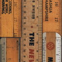 輸入壁紙の切り売り(横巾48.7cm×1m単位で切売)NLXL / NLXL LAB NLXL / エヌエルエックスエル・ラボ NLXL LAB / PRINTED RULERS WALLPAPER  MRV-06【国内在庫】