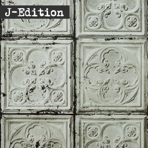 輸入壁紙の切り売り(横巾48.7cm×1m単位で切売)NLXL / BROOKLYN TINS BY MERCI NLXL / ブルックリン・ティンズ・バイ・メルシー BROOKLYN TINS  TIN-J5【国内在庫】