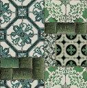 輸入壁紙の切り売り(横巾52cm×1m単位で切売)GRAHAM & BROWN グラハム・アンド・ブラウン Portugese Tile Wallpaper  100560