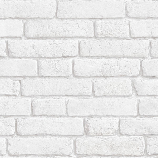 輸入壁紙の切り売り(横巾53cm×1m単位で切売)KOZIEL コジエル Papier peint briques anciennes blanches  8888-101(KV)【国内在庫】