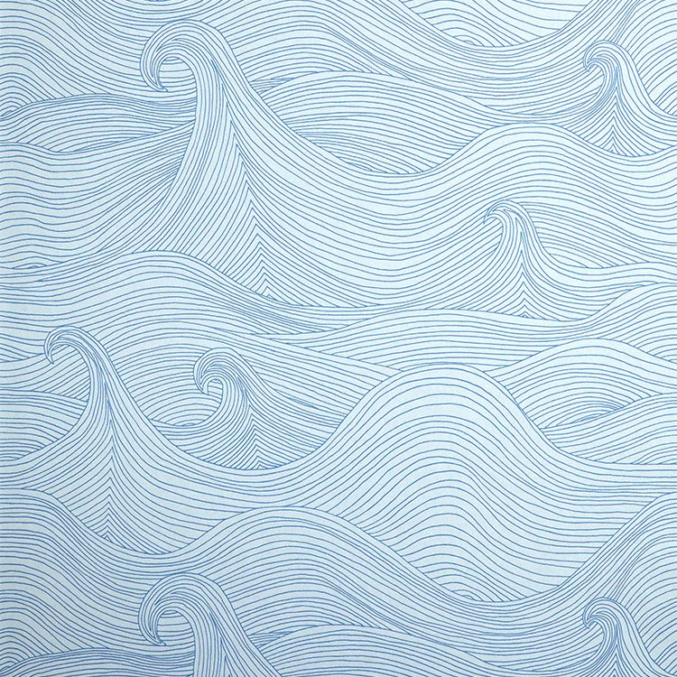 輸入壁紙の切り売り(横巾52cm×1m単位で切売)Abigail Edwards アビゲイル・エドワーズ  Seascape Summer【国内在庫】