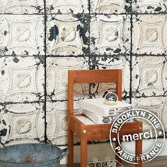 輸入壁紙 オランダ製 BROOKLYN TINS J-Edition / メルシー (1ロール(48.7cm×10m)単位で販売)【送料無料】フリース(不織布)壁紙 【あす楽対応】