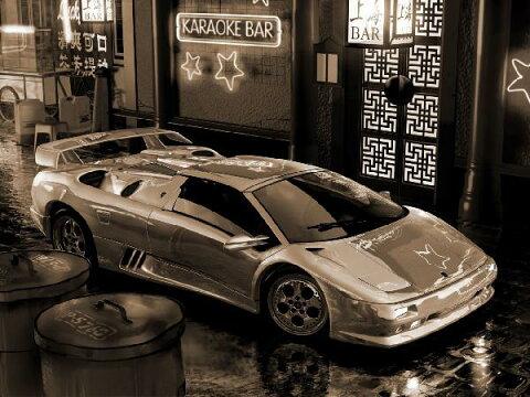 乗り物 のりもの 男の子 ボーイズの壁紙 輸入 カスタム壁紙 PHOTOWALL / Lamborghini In Asia - Sepia (e12090) 貼ってはがせるフリース壁紙(不織布) 【海外取り寄せのため1カ月程度でお届け】 【代引き不可】
