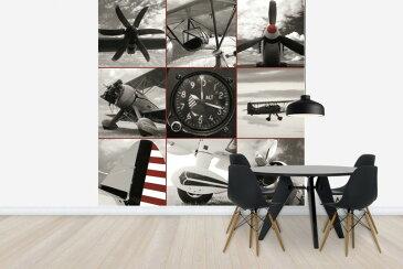 自然 乗り物 のりものの壁紙輸入 カスタム壁紙 PHOTOWALL / Aircraft Montage (e22628)貼ってはがせるフリース壁紙(不織布)【海外取り寄せのため1カ月程度でお届け】【代引き不可】.
