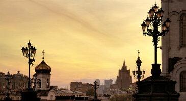 都市 都会 摩天楼 モスクワの壁紙輸入 カスタム壁紙 PHOTOWALL / My Golden Moscow (e40372)貼ってはがせるフリース壁紙(不織布)【海外取り寄せのため1カ月程度でお届け】【代引き不可】