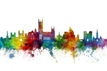 建築 建物 都市 都会 摩天楼の壁紙輸入 カスタム壁紙 PHOTOWALL / Canterbury Skyline (e50126)貼ってはがせるフリース壁紙(不織布)【海外取り寄せのため1カ月程度でお届け】【代引き不可】