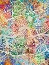 壁紙屋本舗・カベガミヤホンポで買える「ロッテルダム 地図 水彩 カラフル マルチカラーの壁紙輸入 カスタム壁紙 PHOTOWALL / Rotterdam Netherlands City Map (e311477貼ってはがせるフリース壁紙(不織布【海外取り寄せのため1カ月程度でお届け】【代引き不可】」の画像です。価格は108円になります。