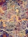 壁紙屋本舗・カベガミヤホンポで買える「ロッテルダム 地図 水彩 カラフル マルチカラーの壁紙輸入 カスタム壁紙 PHOTOWALL / Rotterdam Netherlands City Map (e311479貼ってはがせるフリース壁紙(不織布【海外取り寄せのため1カ月程度でお届け】【代引き不可】」の画像です。価格は108円になります。