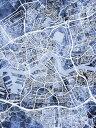 壁紙屋本舗・カベガミヤホンポで買える「ロッテルダム 地図 水彩 青の壁紙輸入 カスタム壁紙 PHOTOWALL / Rotterdam Netherlands City Map (e311480貼ってはがせるフリース壁紙(不織布【海外取り寄せのため1カ月程度でお届け】【代引き不可】」の画像です。価格は108円になります。