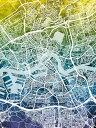 壁紙屋本舗・カベガミヤホンポで買える「ロッテルダム 地図 水彩 カラフル マルチカラー グラデーションの壁紙輸入 カスタム壁紙 PHOTOWALL / Rotterdam Netherlands City Map (e311481貼ってはがせるフリース壁紙(不織布【海外取り寄せのため1カ月程度でお届け】【代引き不可】」の画像です。価格は108円になります。