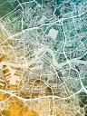 壁紙屋本舗・カベガミヤホンポで買える「ロッテルダム 地図 水彩 黄色 緑 グラデーションの壁紙輸入 カスタム壁紙 PHOTOWALL / Rotterdam Netherlands City Map (e311482貼ってはがせるフリース壁紙(不織布【海外取り寄せのため1カ月程度でお届け】【代引き不可】」の画像です。価格は108円になります。