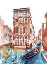 ゴンドラ ヴェネツィア 水彩画の壁紙 輸入 カスタム壁紙 PHOTOWALL / Venice Street (e316842) 貼ってはがせるフリース壁紙(不織布) 【海外取り寄せのため1カ月程度でお届け】 【代引き不可】