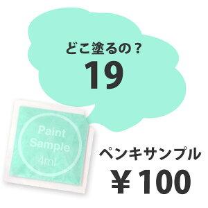 エメラルドグリーンのペンキ《水性塗料》つや消し[イマジンウォールペイント(パウチ カラーサンプル)カルデラ湖の水《19》](メール便でお届け)(1色につき一人1個まで) 1個¥100(6個以上で送料無料)