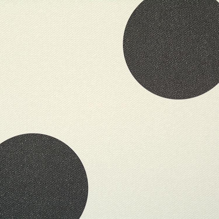 生のり付き 壁紙 (クロス)(販売単位1m)大きめドット柄の壁紙 チャコールグレー SBB-8851