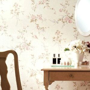 カントリー家具とも合う花柄の壁紙。撮影の 背景紙 バックペーパー にもオススメ♪壁紙 クロス...