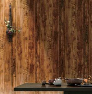 のりも水も不要 すぐに張れる壁紙 のり付 クロス 木目調 [生のり付き壁紙/ルノンRH-7506(販売...