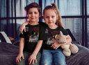 tシャツ キッズ 半袖 黒地 ブラック デザイン 90 100 110 120 130 140 150 Tシャツ ティーシャツ T shirt 003202 人物 絵画 イラスト 3