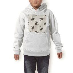 パーカー キッズ ホワイト グレー ブラック デザイン 110 130 150 parker hooded sweatshirt フーディ 白 黒 灰色 子供 男の子 女の子 016360 傘 模様 雨