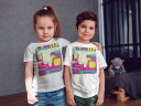tシャツ キッズ 半袖 白地 デザイン 110 120 130 140 150 Tシャツ ティーシャツ T shirt 005880 カラフル インク ペンキ 2