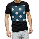 tシャツ メンズ 半袖 ブラック デザイン XS S M L XL 2XL Tシャツ ティーシャツ T shirt 黒 004380 水玉 ドット 模様