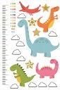 ウォールステッカー 身長計 記念 目盛り 子供部屋 恐竜 怪獣 カラフル 90×60cm シール式 装飾 おしゃれ 壁紙 はがせる 剥がせる カッティングシート wall sticker 雑貨 DIY プチリフォーム