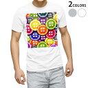 tシャツ メンズ 半袖 ホワイト グレー デザイン XS S M L XL 2XL Tシャツ ティーシャツ T shirt 005926 カラフル ボタン
